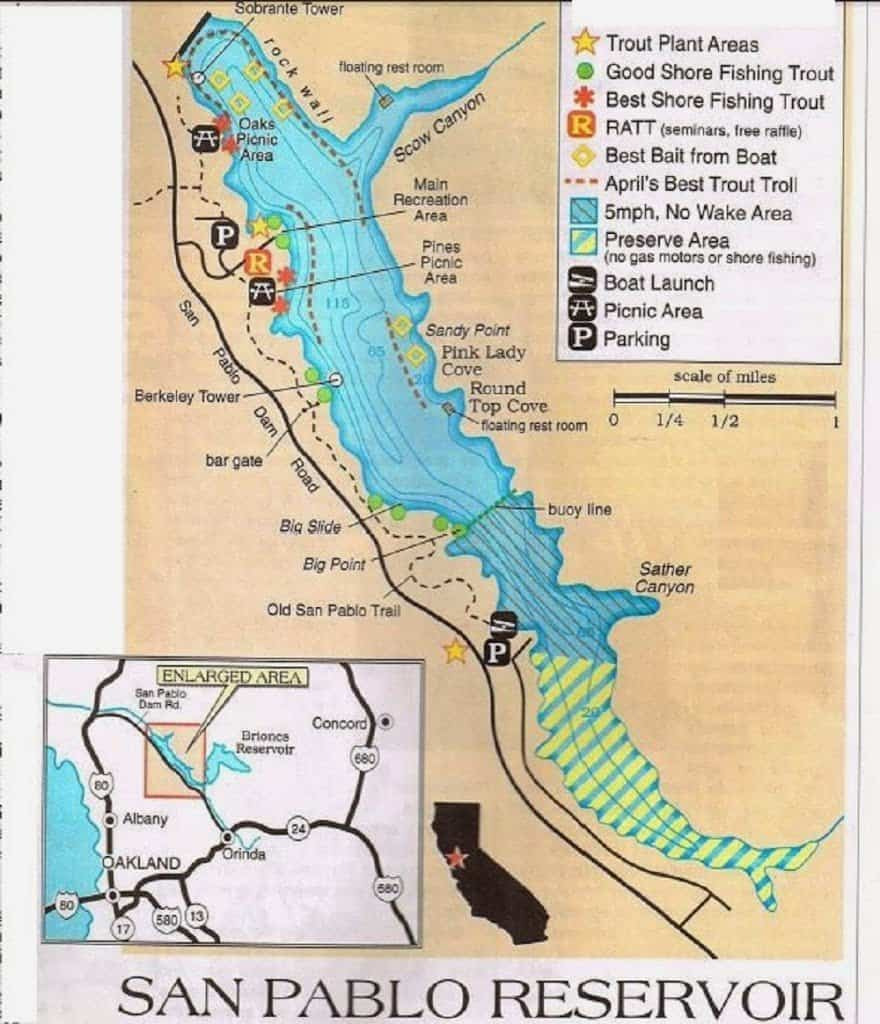 Santa Margarita Fishing Map, Fishing Report, Best Areas ...
