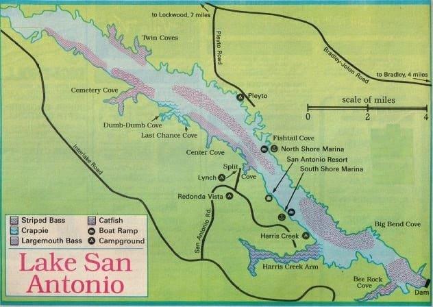 Santa margarita fishing map fishing report best areas for San diego lake fishing report
