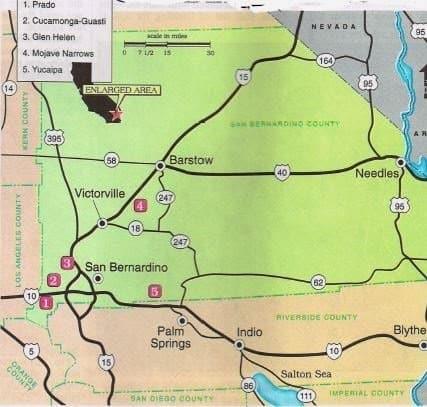 Best areas fishing maps fishing prado glen helen yucaipa for Guasti park fishing