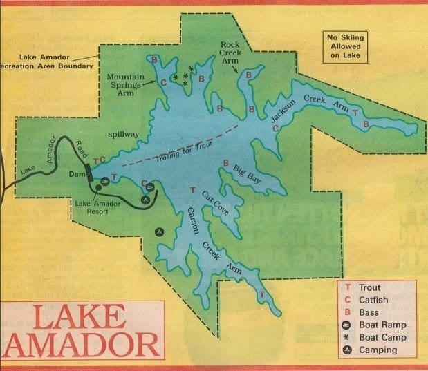Amadorlake jpg oregon california hunting fishing guides for Lake amador fishing report