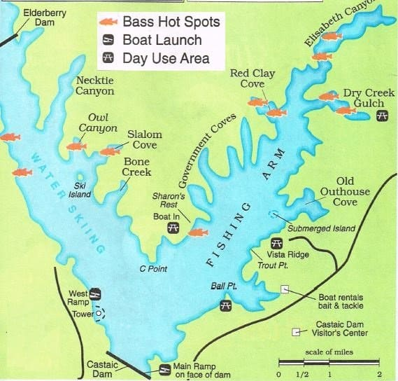 2017 castaic fishing map fishing report for best areas for Local fishing forecast